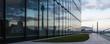 Leinwandbild Motiv Düsseldorf Spiegelung