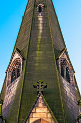 Detail of the St. Martins Church in Birmingham City Centre