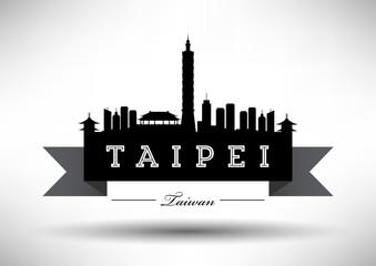 Modern Taipei Skyline Design