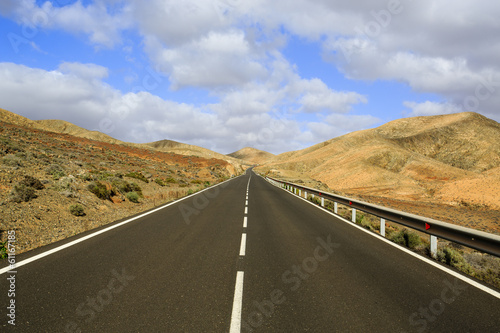 Travel, road - Fuerteventura, in the Canary Islands
