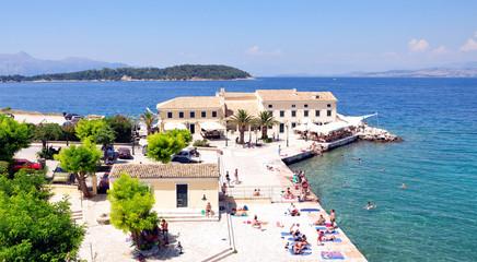 Promenade in Corfu, Greece, Europe
