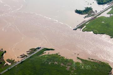 flood-destroyed road