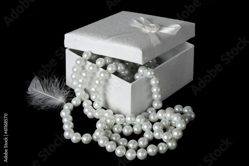 White Pearls and Feather