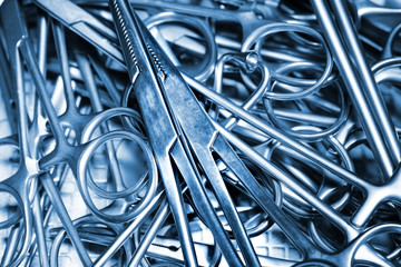 Surgical Instruments. Macro photo