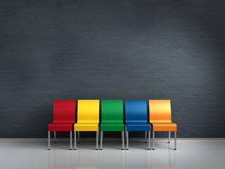 Bunte Stühle