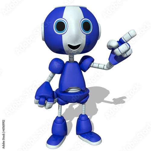 3d illustration of a cute robot