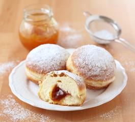 German Krapfen-doughnuts