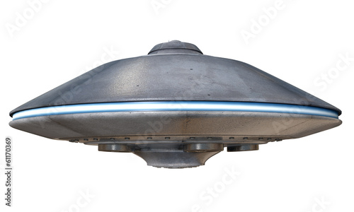 3d illustration of a flying saucer - 61170369