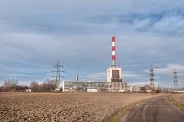Wärmekraftwerk mit Verteilerstation