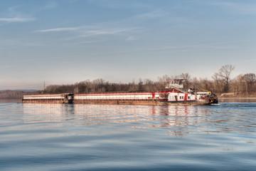 Containerschiff auf der Donau