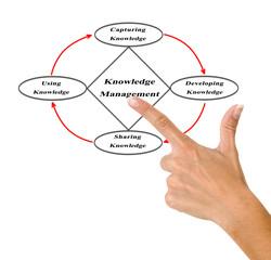 Diagram of knowledge managment