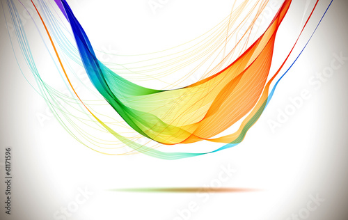 Fototapeta Abstract colorful background with wave