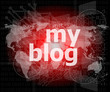 my blog - green digital background - Global internet concept