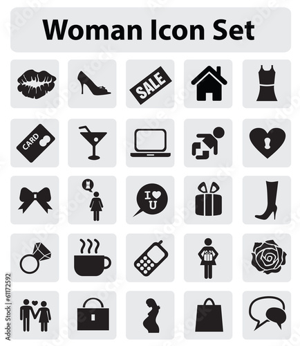 Woman icon set