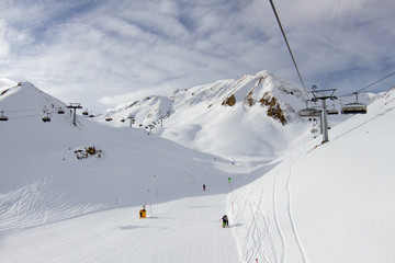 Chairlift and ski slope