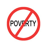 Stop poverty sign poster