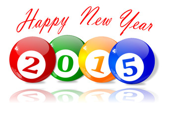 Wishes for the New Year 2015 - vector