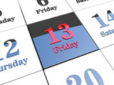Black Friday 13th on 3d calendar