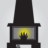 fireplace icon eps10