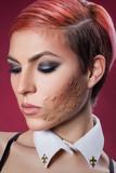 Girl portrait closeup with glitter
