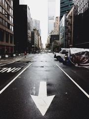 Empty street on Manhattan
