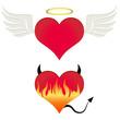 Angel/devil heart