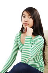 Portrait eines Mädchen im Sitzen