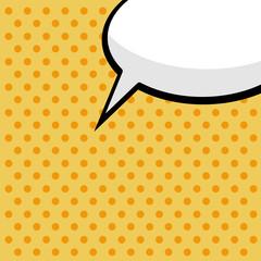 pop art comic speech bubble