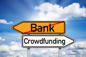 Wegweiser Bank und Crowdfunding