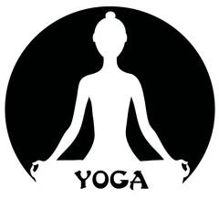Meditating woman - yoga concept