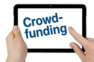 Tablet mit Crowdfunding