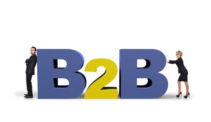 b2b symbol