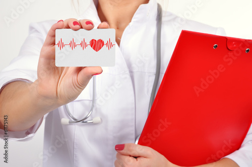 business card with heartbeat