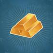 Retro Gold Bars Illustration
