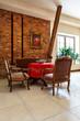 Elegance retro interior with antique furniture