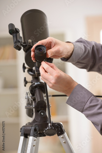Adjusting telescope