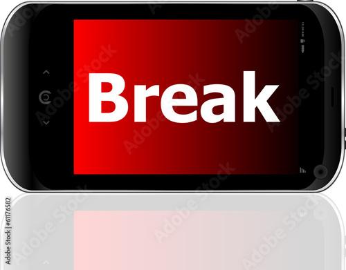 smart phone with break word