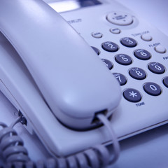 Close up shot of telephone