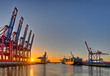 canvas print picture - Hamburger Hafen