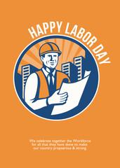 Labor Day Celebration Poster Retro