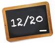 note 12/20 sur ardoise