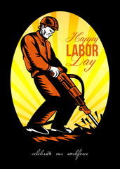 Celebrating Our Workforce Happy Labor Day Poster