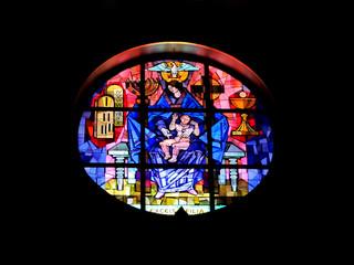 Vidriera con la Virgen y el Niño (Roma)
