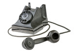 Retro dial-up rotary telephone
