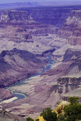 Grand Canyon and Colorado river scenic view