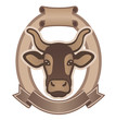 Emblem for dairy products or for the cattle industry