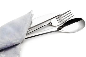 silverware inside napkin