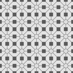 White and gray wallpaper with geometric figures