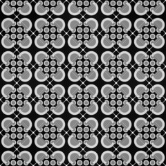 Old style black and gray mosaic