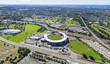 Aerial view of Australian Stadium - 61179962